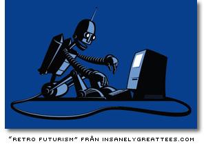 retrofuturism t-shirt från insanelygreattees