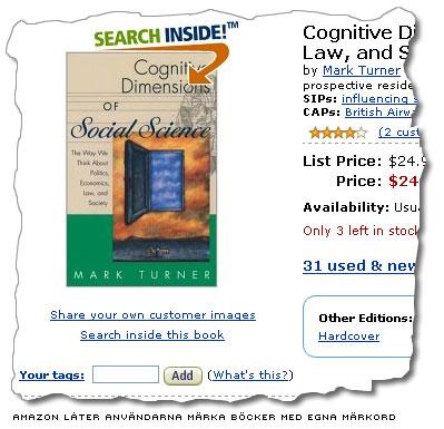 amazon.com låter användarna märka böckerna med egna taggar
