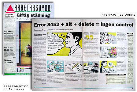 Intervju med Jonas i Arbetarskydd nr 13 2005