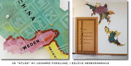Leonard Forslunds Atlas i Medborgarhuset i Eslöv
