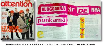 April-numret av Bonniers affärstidnng attention med bloggartikel av Jonas