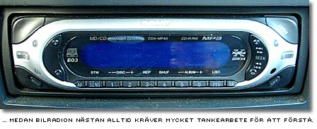 Typisk modern bilradio