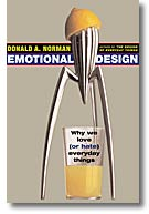 Omslaget på Donald Normans Emotional Design visar en citronpress från Alessi