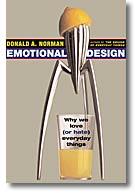 Omslaget på Donald Normans Emotional Design visar en citronpress från Alessi