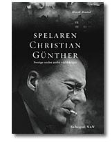 Omslag för Henrik Arnstads bok Spelaren Christian Günther