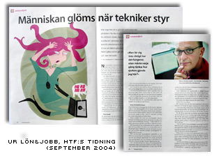 Intervju med Jonas i HTFs tidning Ln o jobb