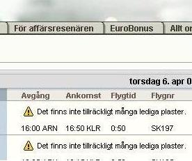 lediga plaster på SAS sajt