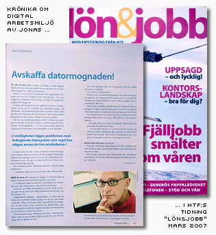 Jonas krönika i Lönojobb, mars2007.jpg
