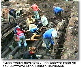 Arkeologisk utgrävning i Novgorod
