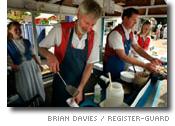 Bröderna Andresens pannkaks-stånd i Junction City, Oregon