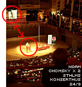 Noam Chomsky på Konserthuset i Stockholm i september
