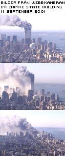 Bilder från webbkameran på Empite State Building den 11 september.